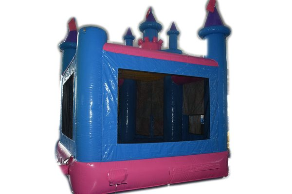 Back of fantasy princess castle with safety mat